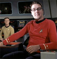 Redshirt Ryan at the helm