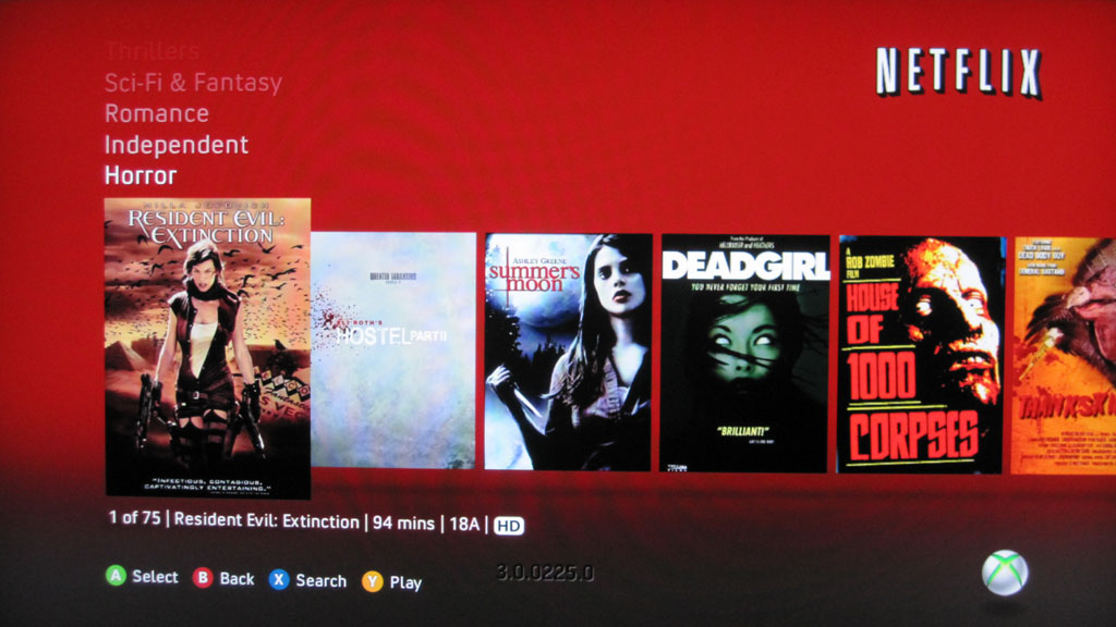 Xbox Dashboard Fall Update 2010 – Netflix in Canada on the 360